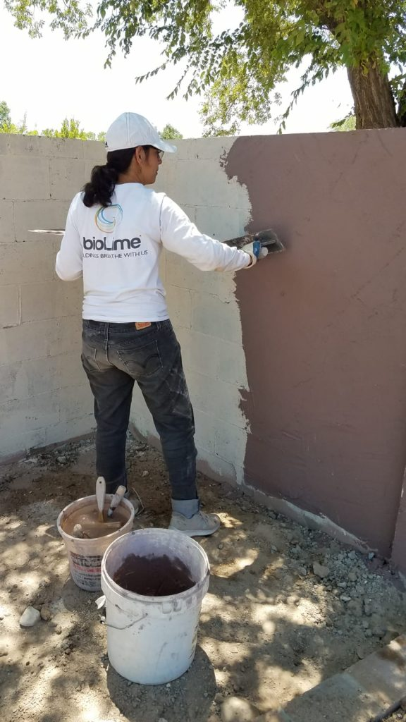 Image of a BioLime BOND Exterior application