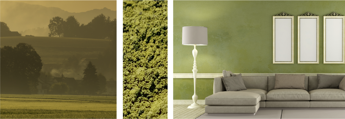 Green fields pigment example (mockup)