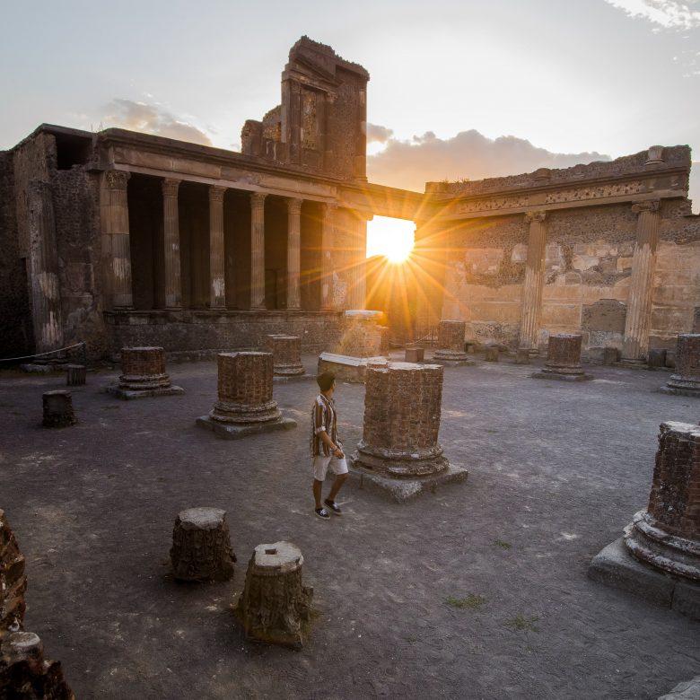 Sunset at Pompeii